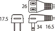 L型差込みプラグ1